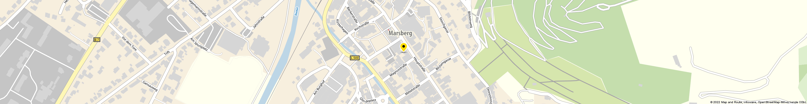 Immobilien-Center Marsberg in Marsberg Karte