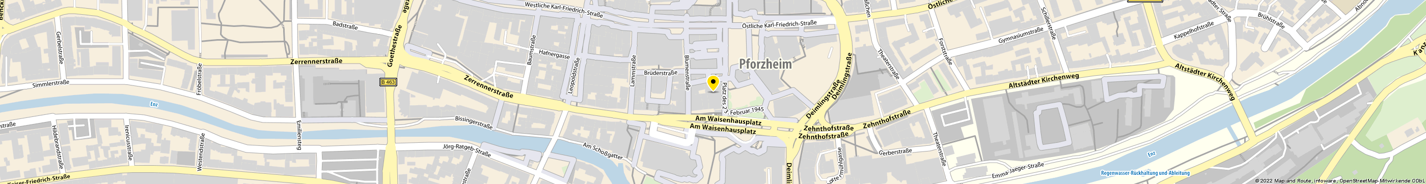 Glasnowitsch Pia Physio Plus in Pforzheim-Innenstadt Karte