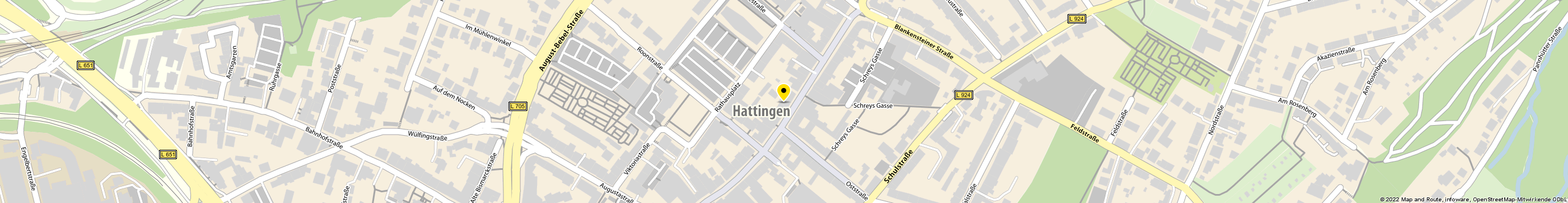 Commerzbank AG Filiale Hattingen in Hattingen Karte