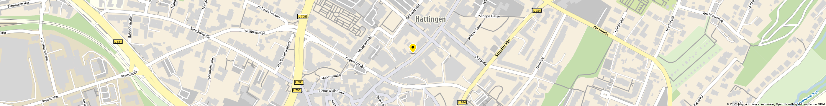 TARGOBANK AG & Co KGaA in Hattingen Karte