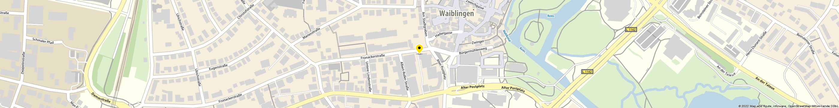 E-Plus Shop in Waiblingen Karte