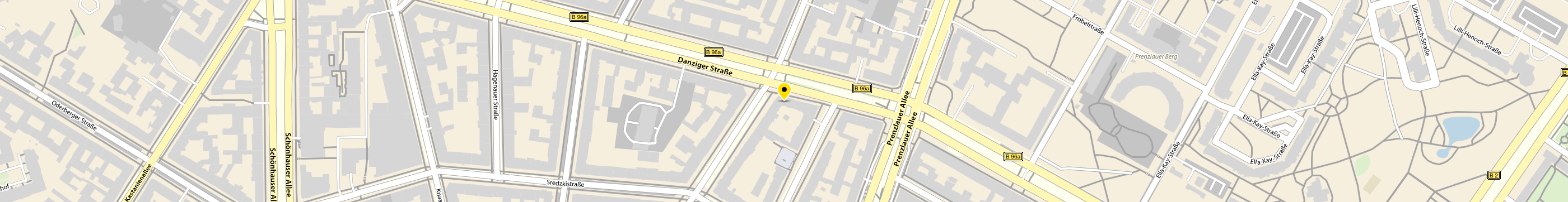 DPD-Partner Mini Markt & More in Berlin-Prenzlauer Berg Karte