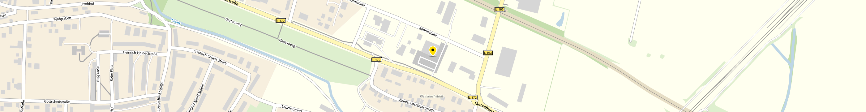 Netto Marken-Discount AG & Co. KG in Bad Lauchstädt, Goethestadt Karte